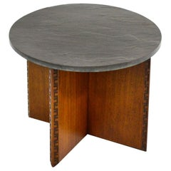 Frank Lloyd Wright Side Table with Slate Top