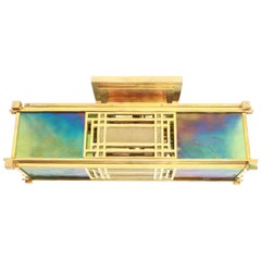 Frank Lloyd Wright Sumac Wall Sconce Flush Mount Stained Glass Yamagiwa Japan