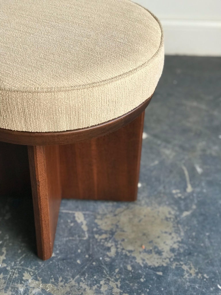 Frank Lloyd Wright Swivel Stool In Good Condition For Sale In St.Petersburg, FL