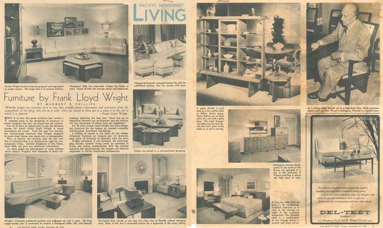 American Frank Lloyd Wright Taliesin Complete Mahogany Dining Set 1955 Heritage-Henredon