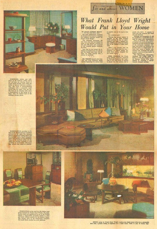 Frank Lloyd Wright Taliesin Complete Mahogany Dining Set 1955 Heritage-Henredon In Good Condition In Brooklyn, NY