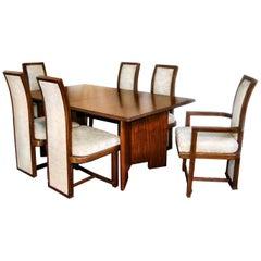 Frank Lloyd Wright Taliesin Complete Mahogany Dining Set 1955 Heritage-Henredon