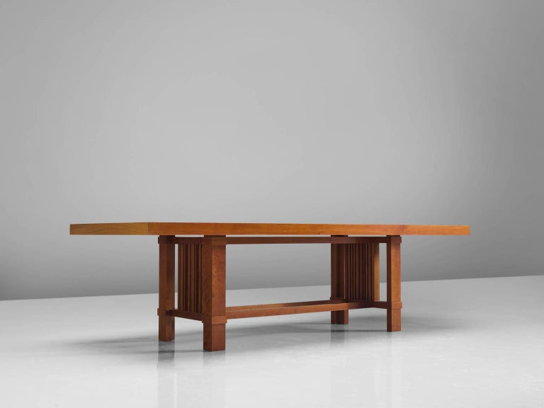 Mid-Century Modern Frank Lloyd Wright 'Taliesin' Dining Table for Cassina For Sale