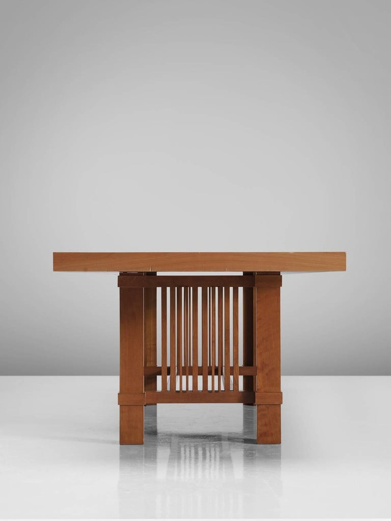 Late 20th Century Frank Lloyd Wright 'Taliesin' Dining Table for Cassina For Sale