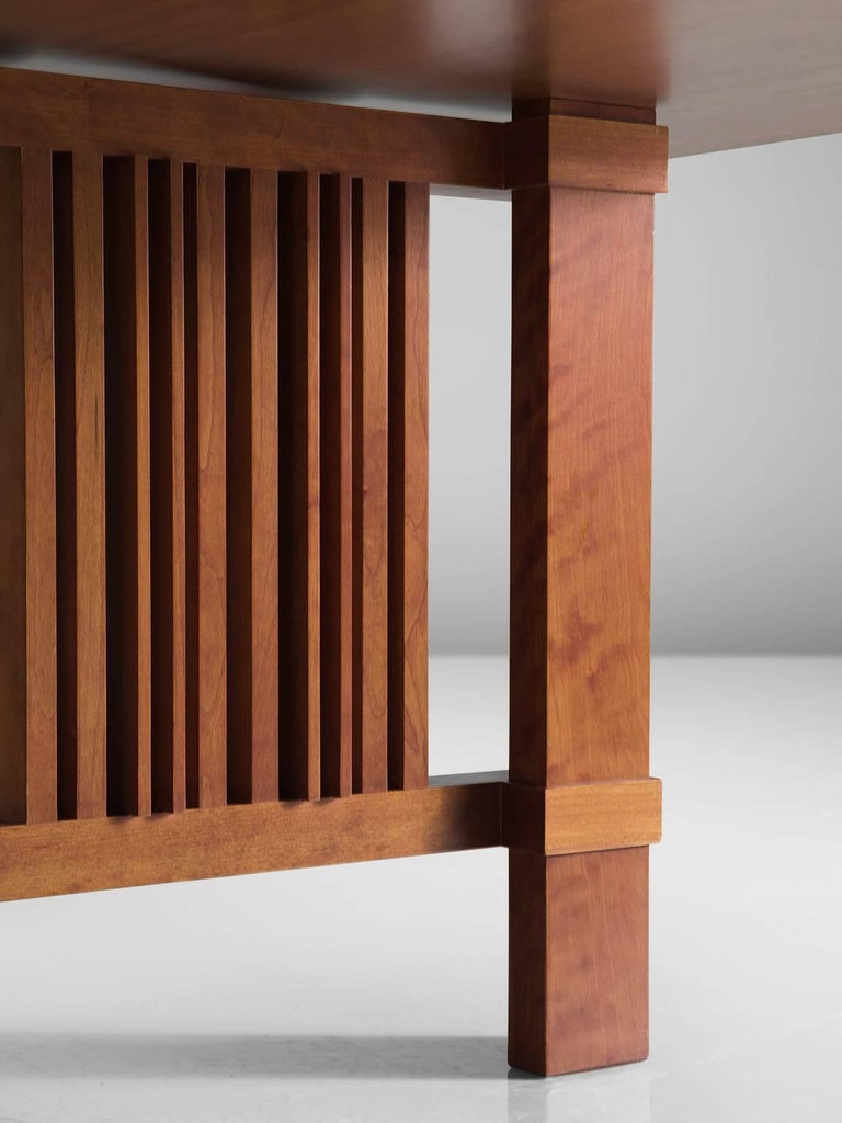 Cherry Frank Lloyd Wright 'Taliesin' Dining Table for Cassina For Sale