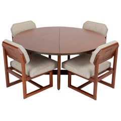 "Frank Lloyd Wright ""Taliesin"" Game Table with Four Chairs"
