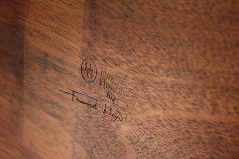 Frank Lloyd Wright Taliesin Game Table with Leaf For Sale 5