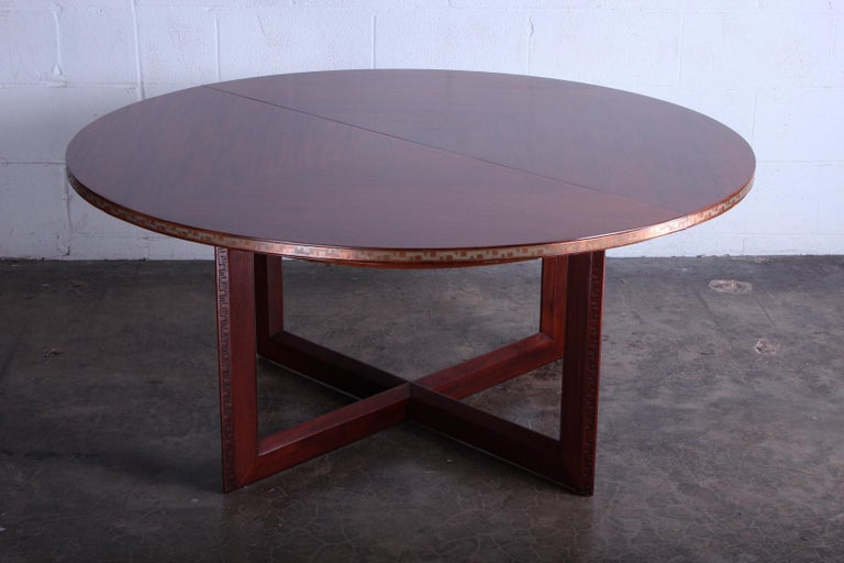Frank Lloyd Wright Taliesin Game Table with Leaf For Sale 6