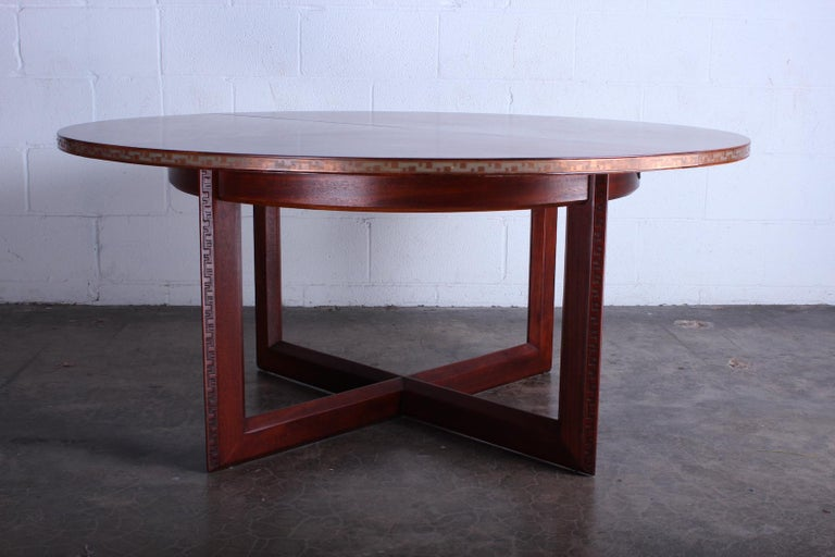 Frank Lloyd Wright Taliesin Game Table with Leaf For Sale 7