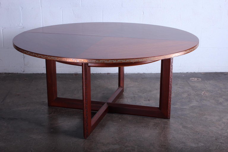 Frank Lloyd Wright Taliesin Game Table with Leaf For Sale 8