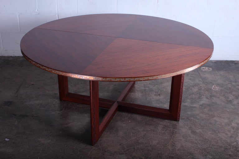 Frank Lloyd Wright Taliesin Game Table with Leaf For Sale 9