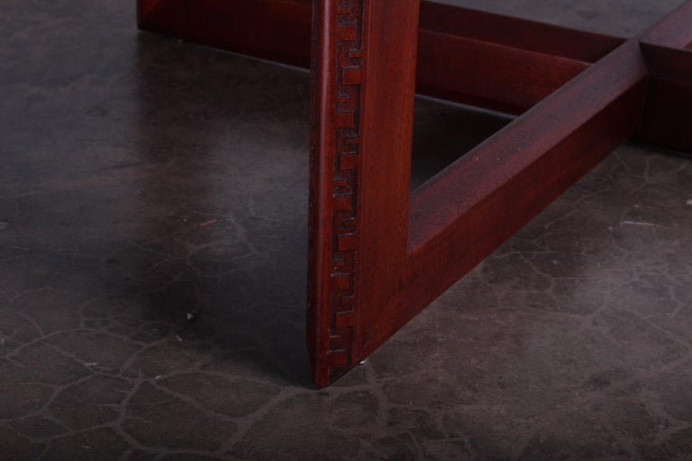 Mahogany Frank Lloyd Wright Taliesin Game Table with Leaf For Sale