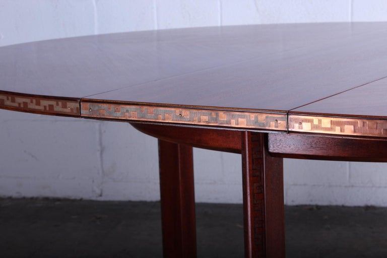 Frank Lloyd Wright Taliesin Game Table with Leaf For Sale 1