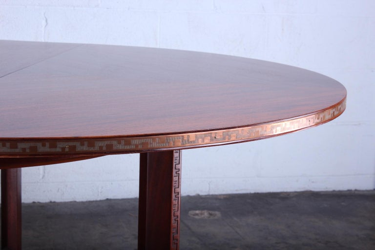 Frank Lloyd Wright Taliesin Game Table with Leaf For Sale 2