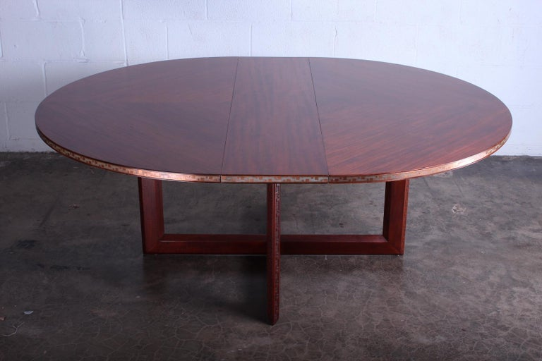 Frank Lloyd Wright Taliesin Game Table with Leaf For Sale 3