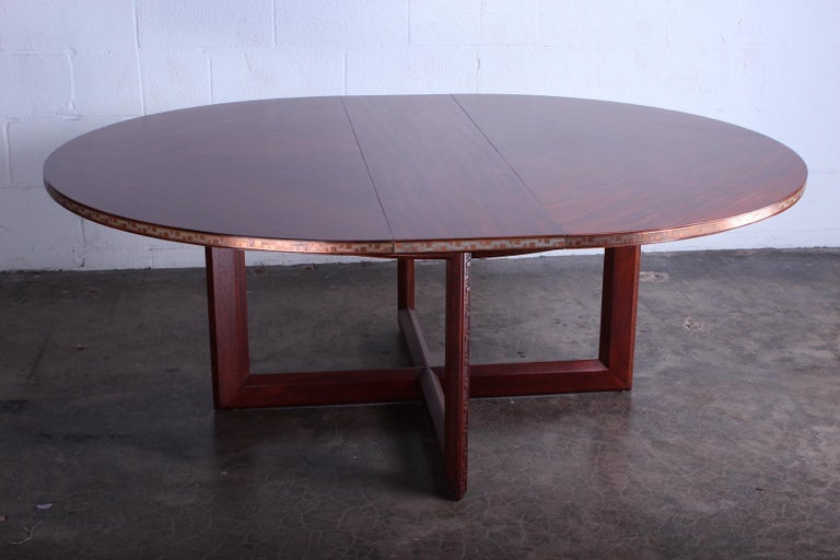 Frank Lloyd Wright Taliesin Game Table with Leaf For Sale 4