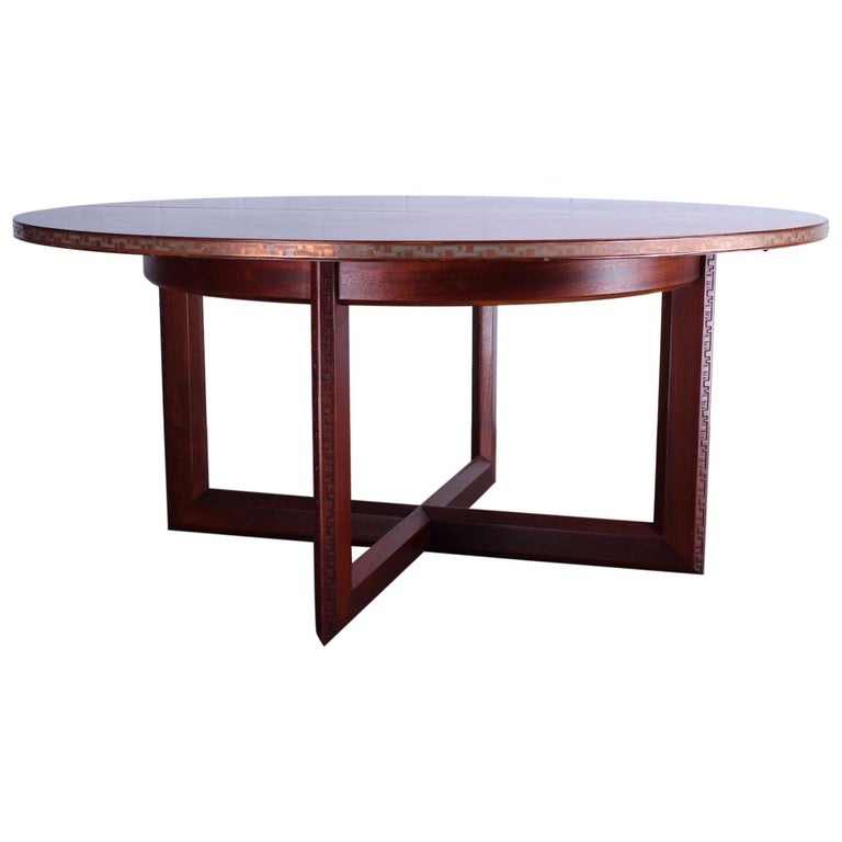 Frank Lloyd Wright Taliesin Game Table with Leaf For Sale