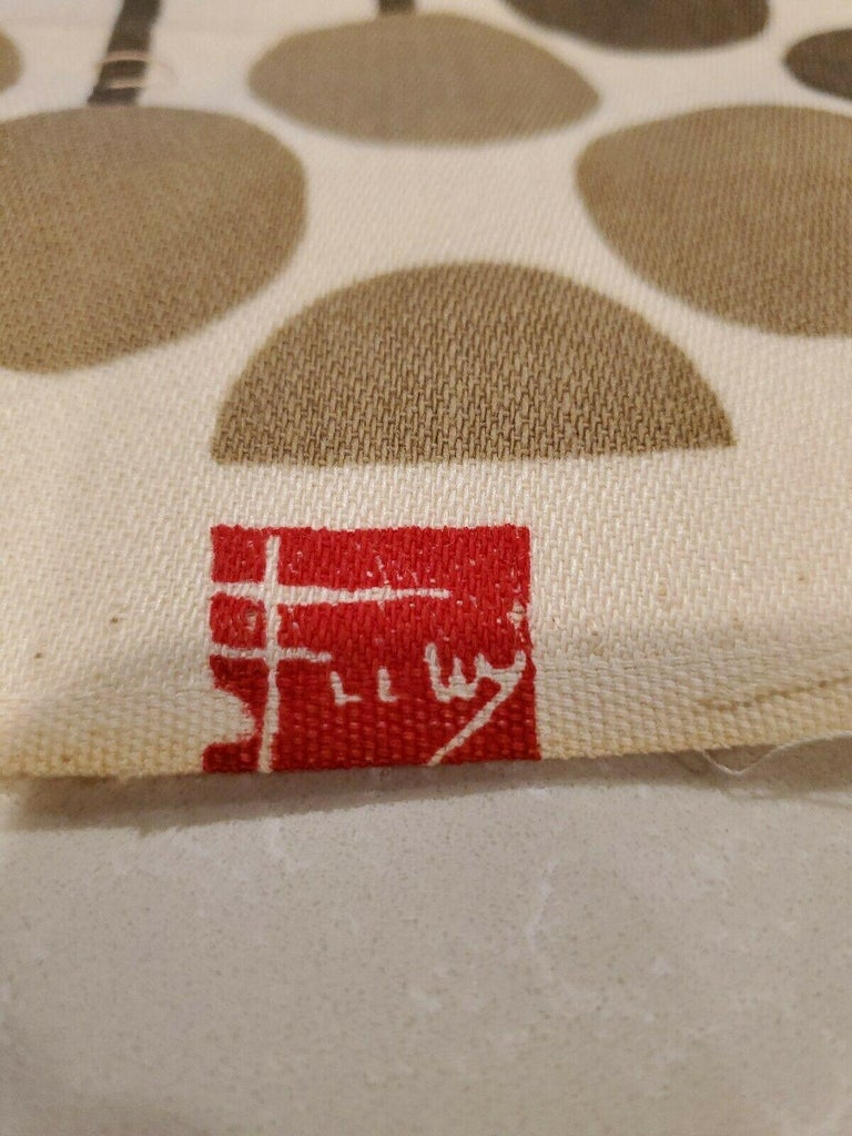 Frank Lloyd Wright Taliesin Large Linen Textile Swatch 1955 Signed, Schumacher For Sale 1