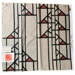 Frank Lloyd Wright Taliesin Large Linen Textile Swatch 1955 Signed, Schumacher