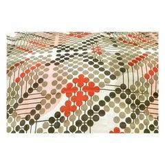 Frank Lloyd Wright Taliesin Large Linen Textile Swatch 1955 Signed, Schumacher