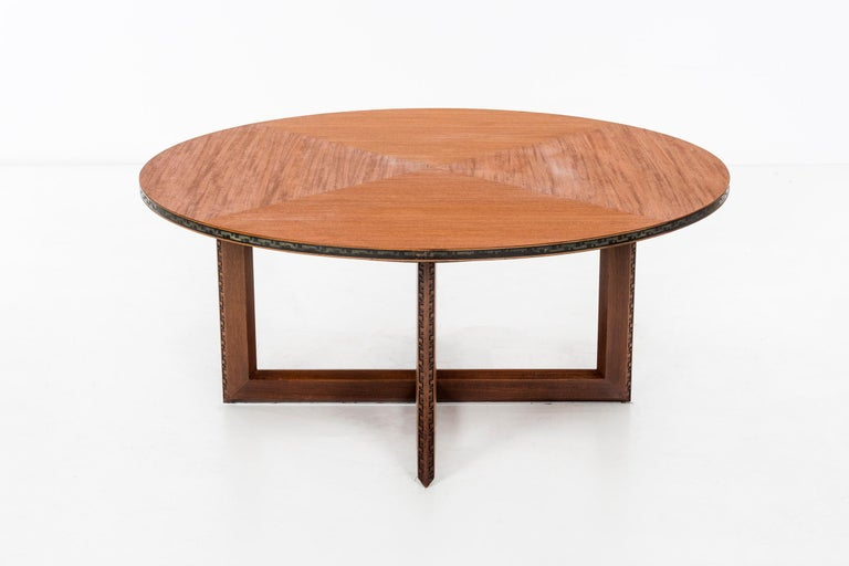 American Frank Lloyd Wright Taliesin Low Round Dining Table For Sale
