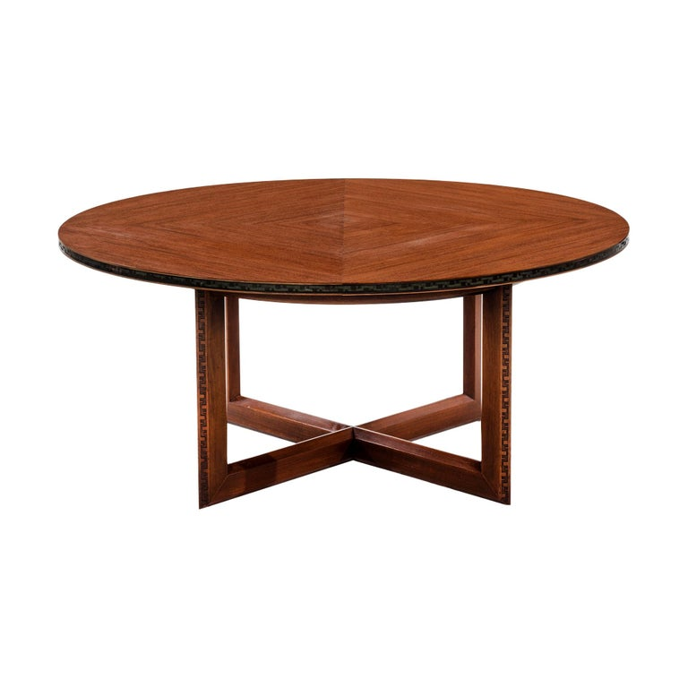 Frank Lloyd Wright Taliesin Low Round Dining Table For Sale