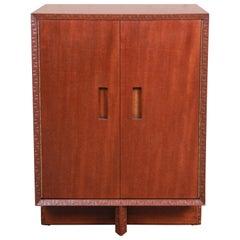 Frank Lloyd Wright Taliesin Mahogany Cabinet, Newly Restored