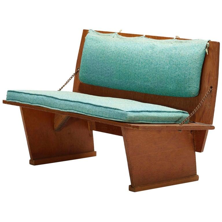 Frank Lloyd Wright Unitarian Universalist Folding Bench 1951 Milwaukee Wisconsin For Sale
