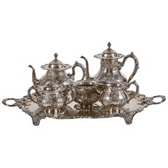 Frank M. Whiting 6-Piece Sterling Silver Tea and Coffee Service including Tray