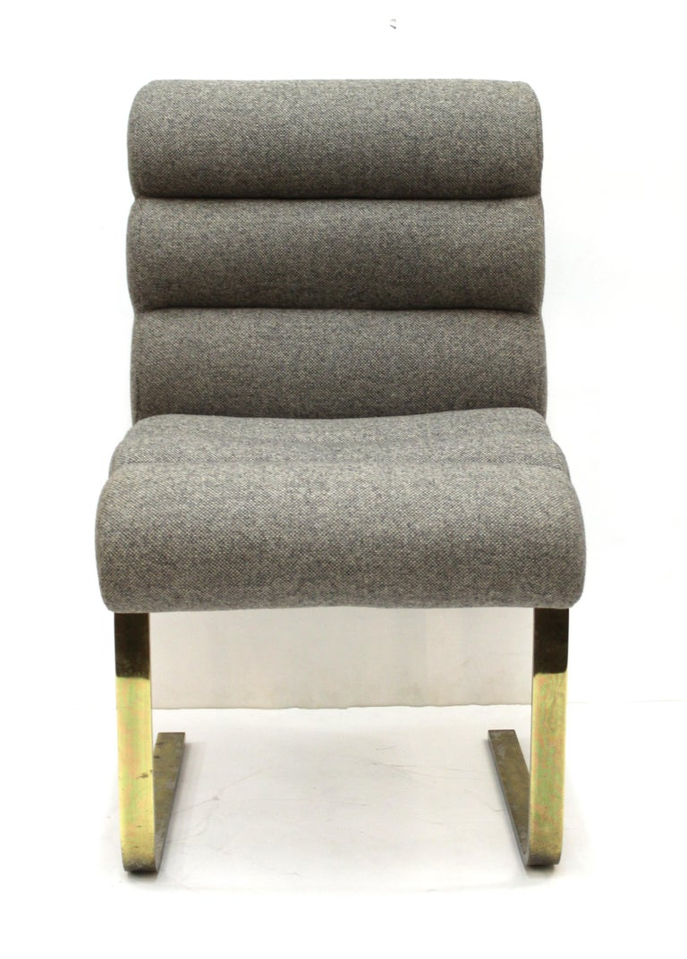 Frank Mariano for Pace Modern Cantilevered Dining Chairs In Good Condition For Sale In New York, NY