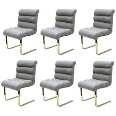 Frank Mariano for Pace Modern Cantilevered Dining Chairs