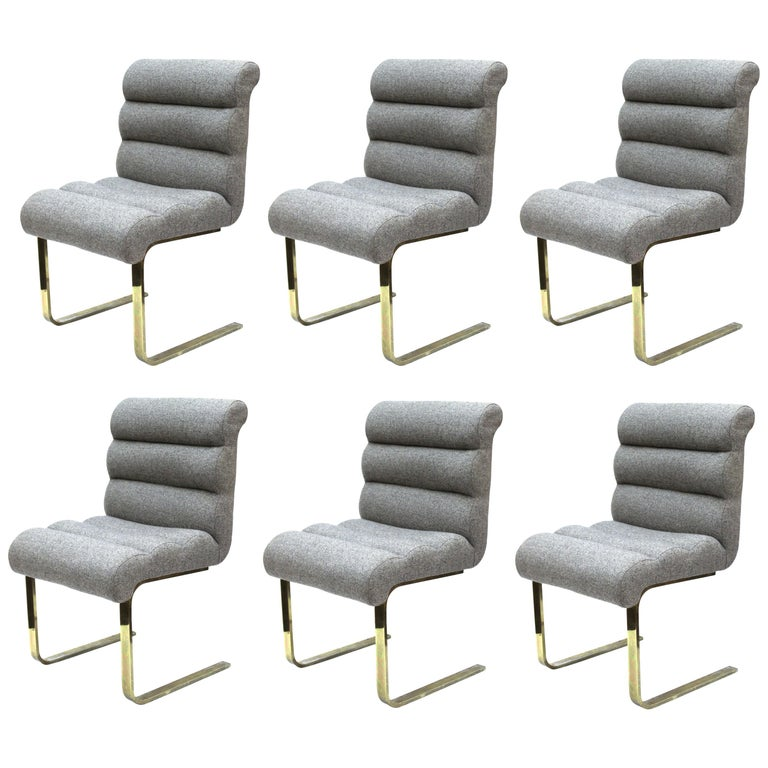 Frank Mariano for Pace Modern Cantilevered Dining Chairs For Sale