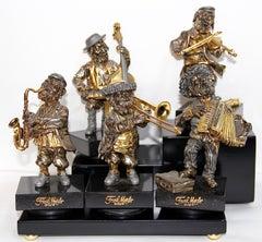 "Frank Meisler, ""Musician band"" consisting of five figures."