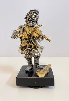 Rare Vintage Israeli Jerusalem Judaica Klezmer Musician Sculpture Frank Meisler