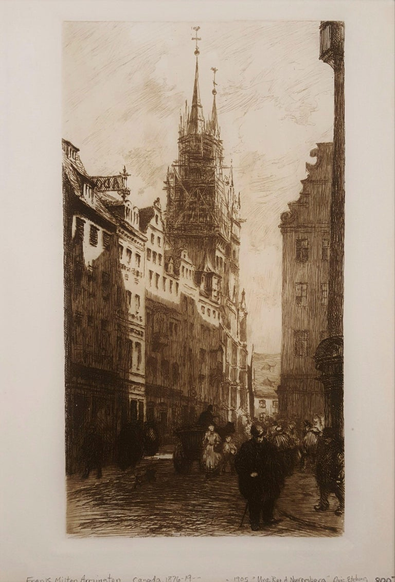Une Rue a Nuremberg - Print by Frank Milton Armington