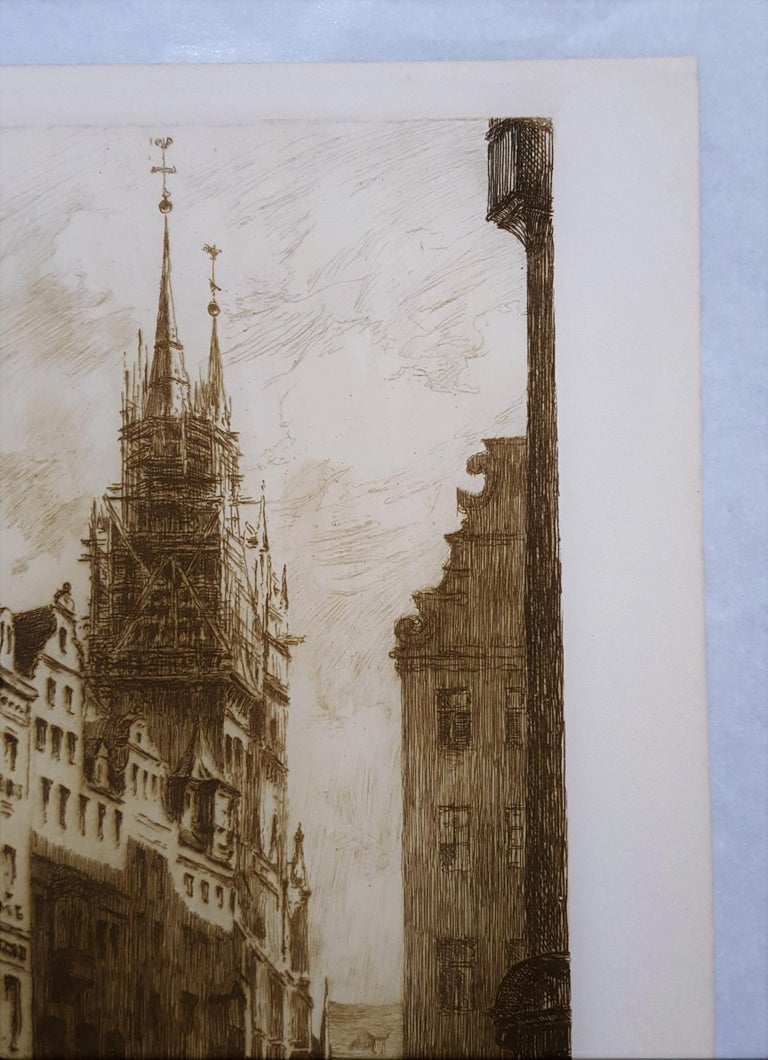 An original etching on heavy wove paper by Canadian artist Frank Milton Armington (1876-1941) titled
