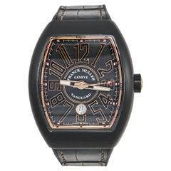 Frank Muller 18K Rose Gold Titanium Rubber Vanguard  Men's Wristwatch 45 mm