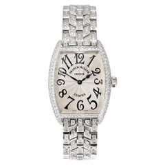 Frank Muller 3.00 Carat Diamond White Gold Curvex Wristwatch