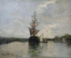 Boats at Anchor - Isigny-Sur-Mer
