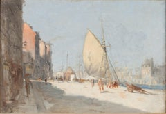 Le Port - Modern, Impressionism, Oil Painting, Late 19th Century