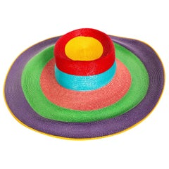 Frank Olive Rainbow Sun Hat, 1990s
