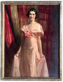A Portrait of Maud Fealey, Original Oil on Canvas Painting