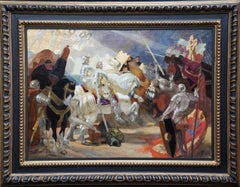 Onward Christian Soldiers - British Edwardian 1911 art religious oil painting