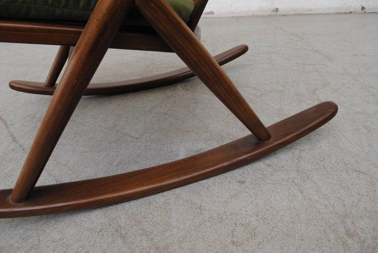 Frank Reenskaug for Bramin Møbler Danish Rocking Chair For Sale 4