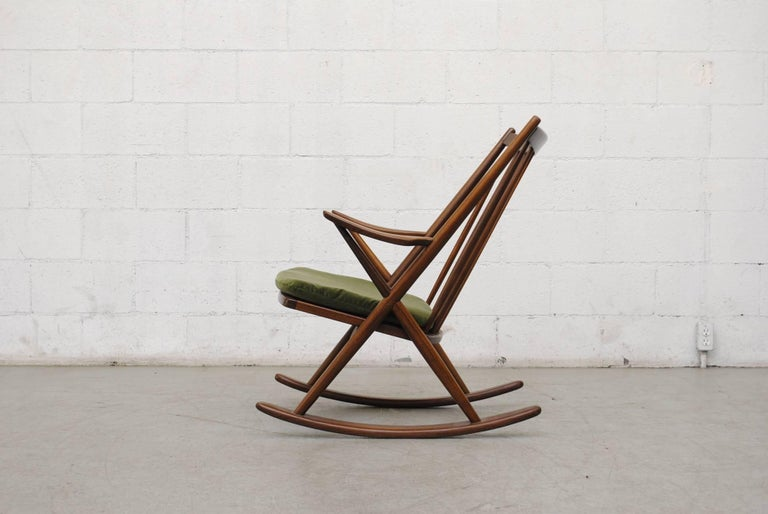 Mid-Century Modern Frank Reenskaug for Bramin Møbler Danish Rocking Chair For Sale