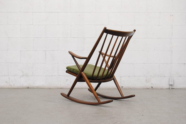 Frank Reenskaug for Bramin Møbler Danish Rocking Chair In Good Condition For Sale In Los Angeles, CA