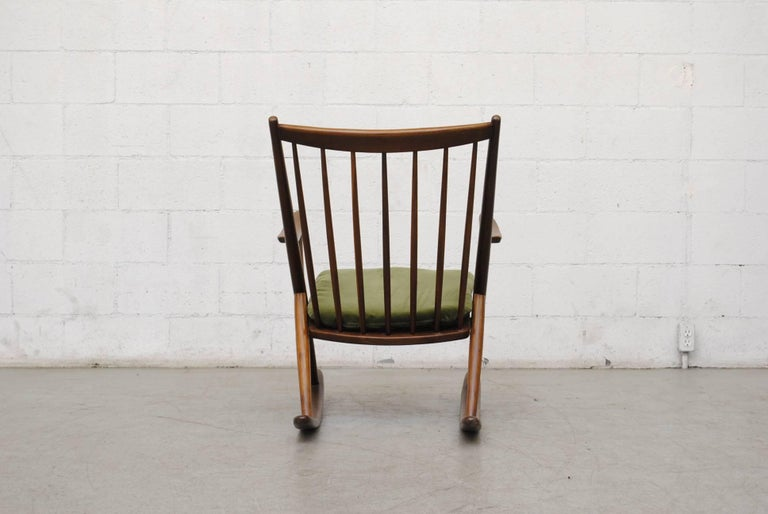 Mid-20th Century Frank Reenskaug for Bramin Møbler Danish Rocking Chair For Sale