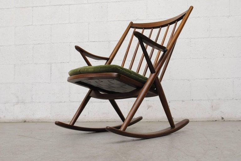 Frank Reenskaug for Bramin Møbler Danish Rocking Chair For Sale 1