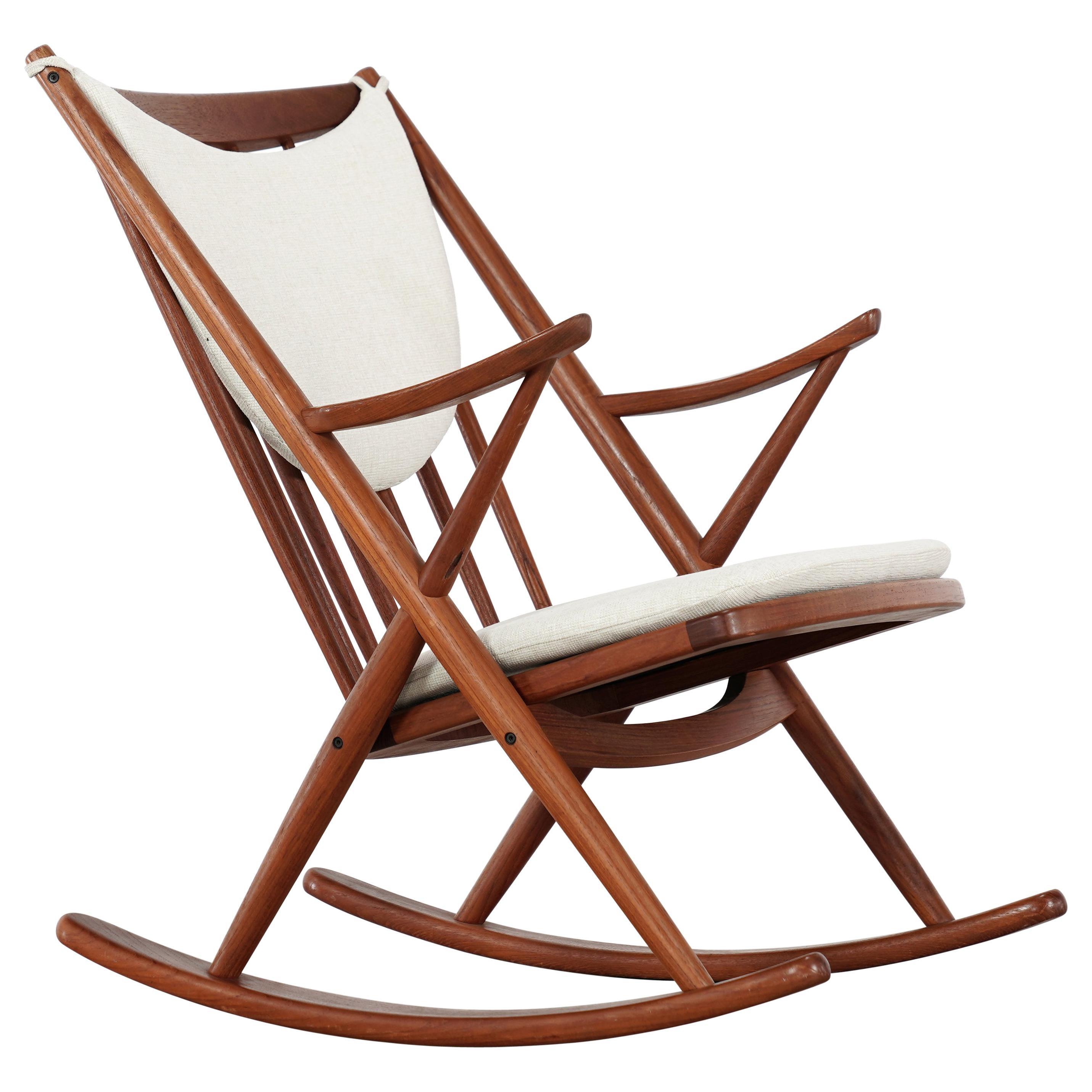 Frank Reenskaug, Teak Rocking Chair 1962 for Bramin, Denmark, Lounge Chair