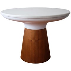 Frank Rohloff Marble Top Table with Pedestal Base, California Design 1960s
